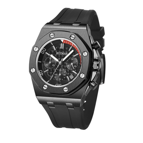 Relógio de Aço Inoxidável do Esporte Militar para Homens Relógio de Quartzo Relógio de Pulso à Prova Olhos Silicone Starp Marca Superior Masculino Dwaterproof Água Relógio 3