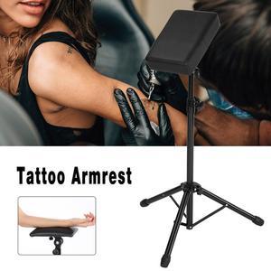Image 1 - Dövme kol dayama Tripod standı ile ayarlanabilir yükseklik yumuşak sünger ped taşınabilir dövme kol bacak dayanağı dövme sanatı Salon kol dayama masa