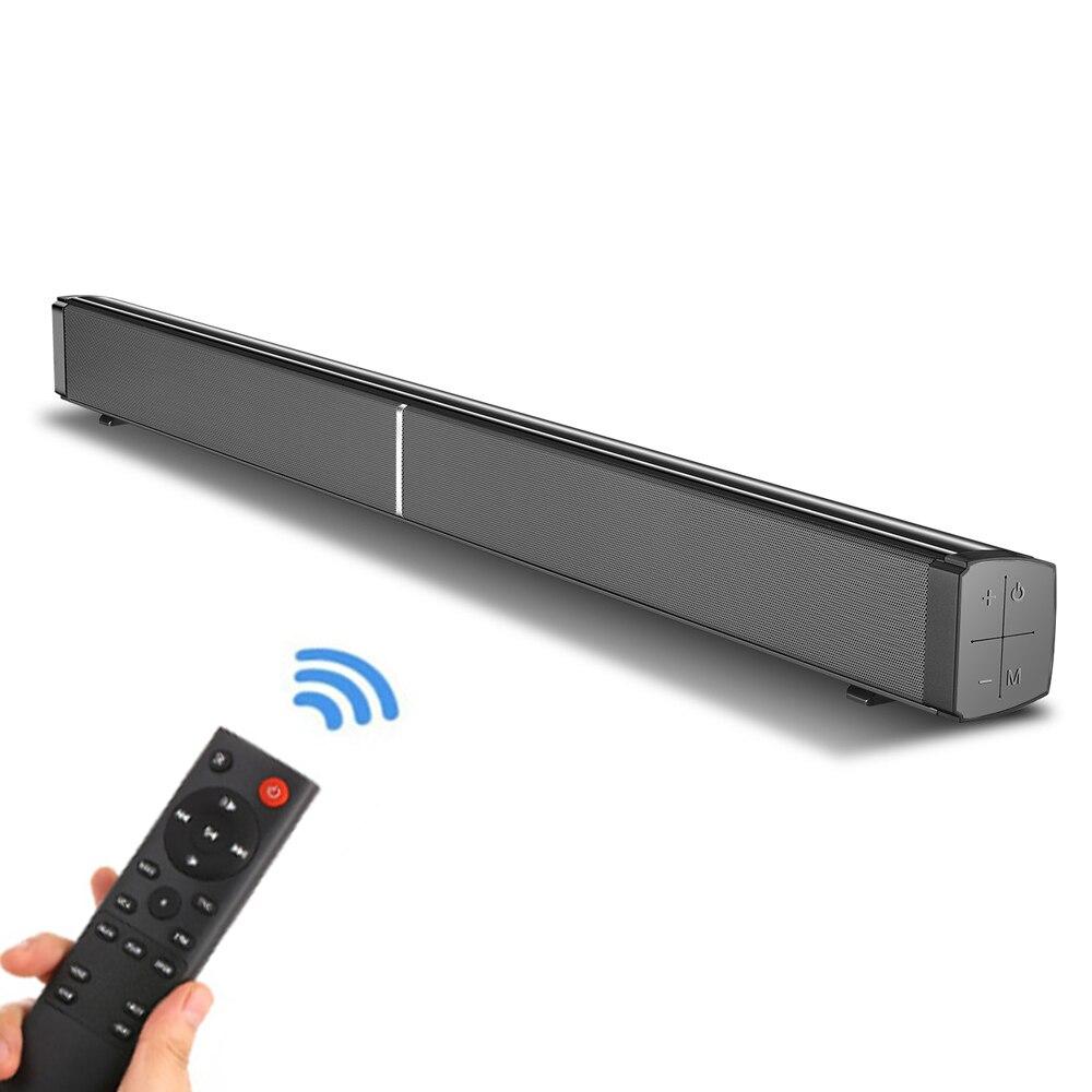 Soundbar com Fio e sem Fio Barra de Som Subwoofers com Controle Bluetooth Alto-falante Casa Teatro Estéreo Embutido Remoto 40 w tv 5.0