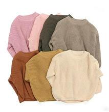 Новинка вязаный свитер для новорожденных девочек и мальчиков