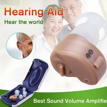 NEW Best Sound In-ear Amplifier Super MINI Hearing Aid Aids device Adjustable Tone personal ear care tools High quality Gift personal deafness hearing aid cheap ear machine price s 138 drop shipping