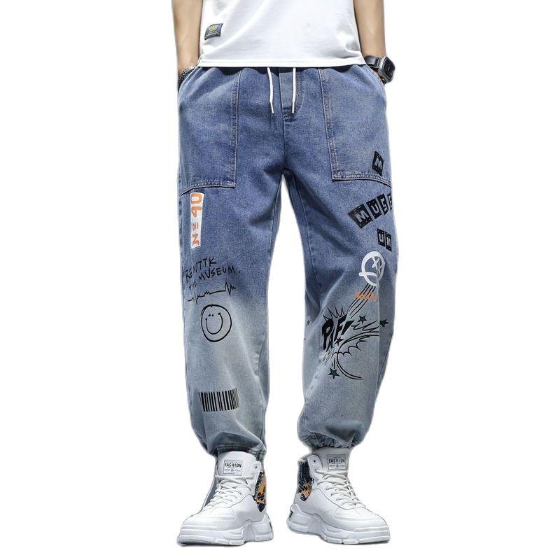 High quality Fashion Men's Cargo pants Hip Hop Trend Streetwear Jogging Pants Men Casual Elastic Waist Men Clothing Trousers
