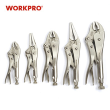 WORKPRO 5PC Pliers Set CRV Locking Pliers curved jaw pliers long nose pliers