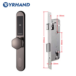 Image 5 - אלקטרוני הזזה דלת מנעול, חכם דיגיטלי לוח מקשים קוד Keyless מנעול דלת, סיסמא Keyless מנעול דלת אלקטרוני