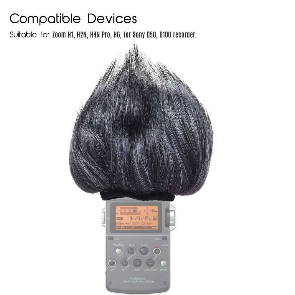 Artificial Fur Windscreen Muff Dustproof Easy Install Recording Pen Microphone Windshield Outdoor For ZOOM H4N H2N Microphone