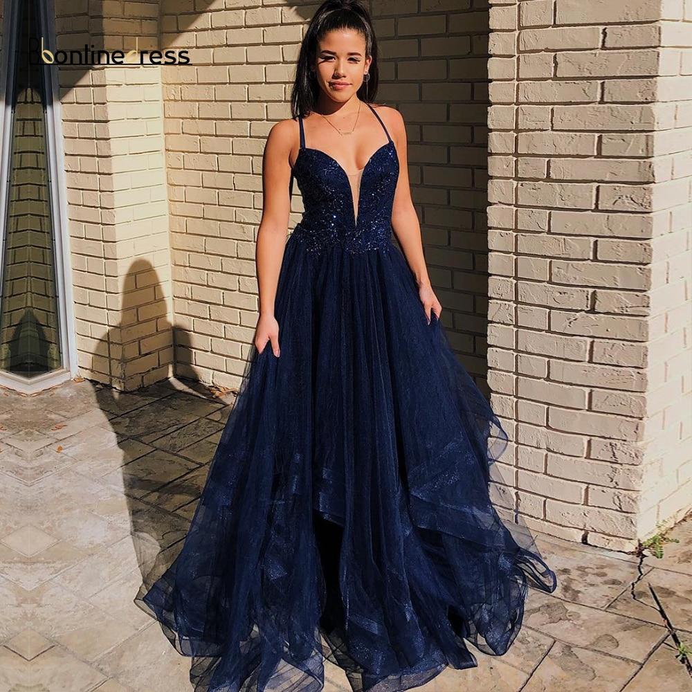 Party-Dress Dark Blue Prom Dresses