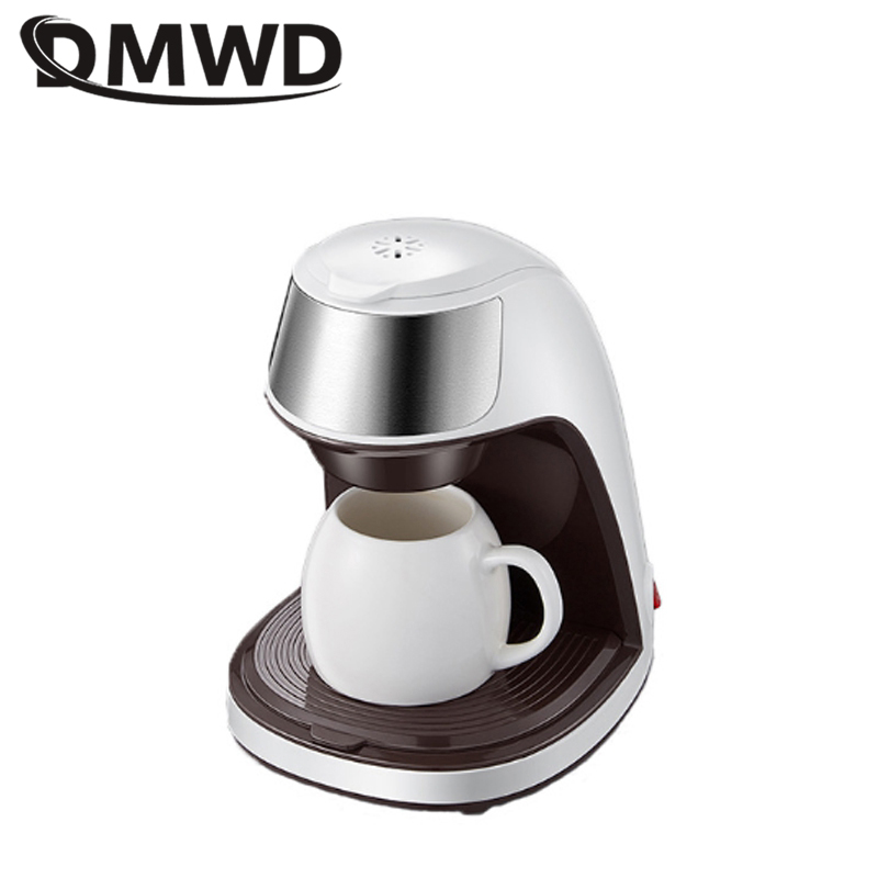 DMWD 300ML Mini Drip Coffee Maker American Coffee Machine Scented Tea Pot For Home And Office Single Cup Prevent dry burn 220V