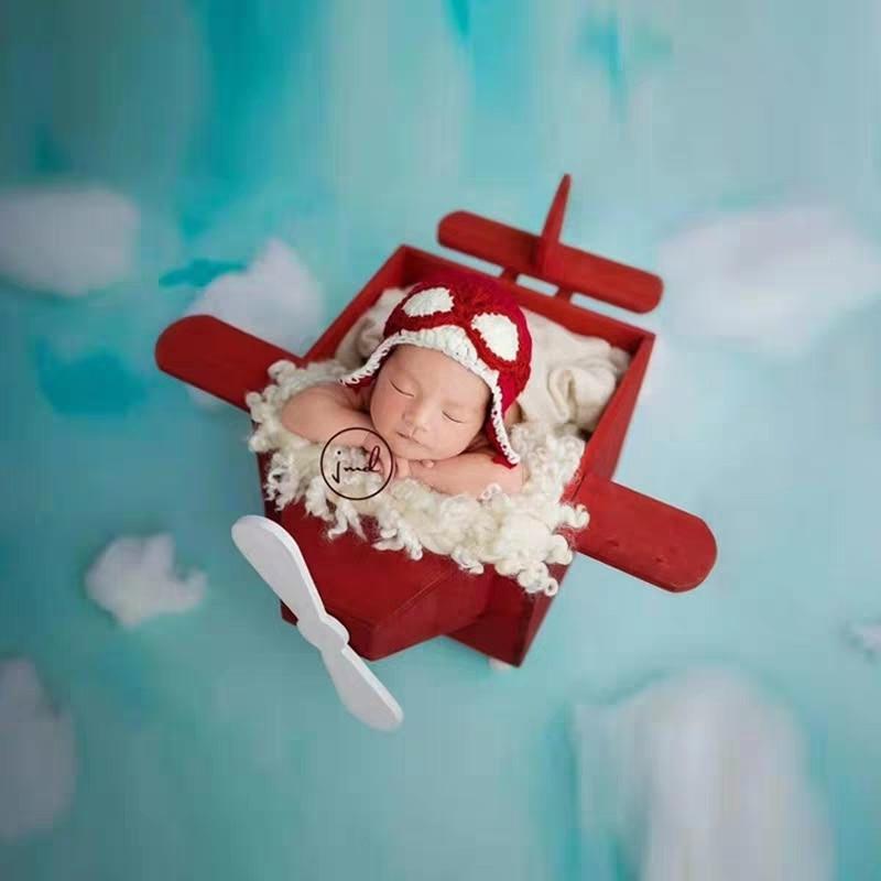 Newborn Photography Props Home Props Wooden Aircraft Props Children's Studio Photo Props Studio Costume Props New
