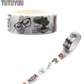 цена на PC315 Cute Cartoon Decorative Paper Washi Tape DIY Scrapbooking Masking Tapes School The Office TV Supply