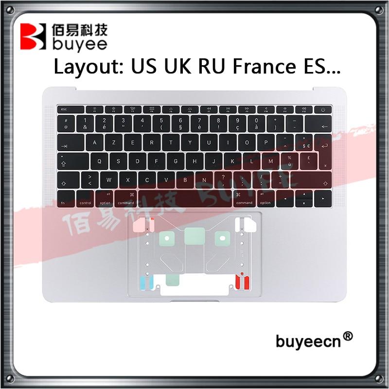Original A1708 Topcase For Macbook Retina Pro 13'' A1708 Top Case US UK RU France ES Keyboard With Backlight 2016 2017