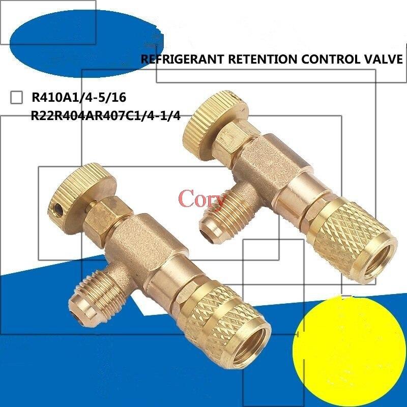 1PC R22/R410 Refrigeration Charging Adapter Liquid Addition Accessories Home Refrigerant Retention Control Valve