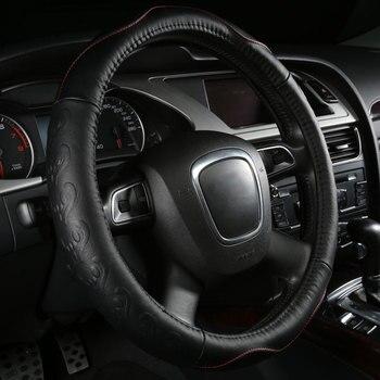Car Steering Wheels Cover Genuine Leather Accessories for Chevrolet Colorado Corsica Corvette El Camino Equinox