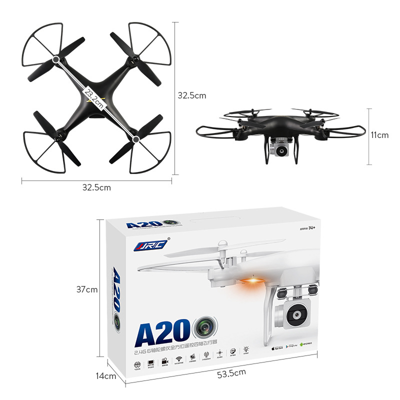 Jjrc A20 Remote-control Four-axis Aircraft Unmanned Aerial Vehicle Remote Control Aircraft Wifi Aerial Pass Set High Ultra-long