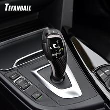 Car Carbon Fiber Gear Shift Knob Cover Trim for BMW 1 2 3 4 5 Series F20 F30 F31 F34 Car Interior Modification Accessories