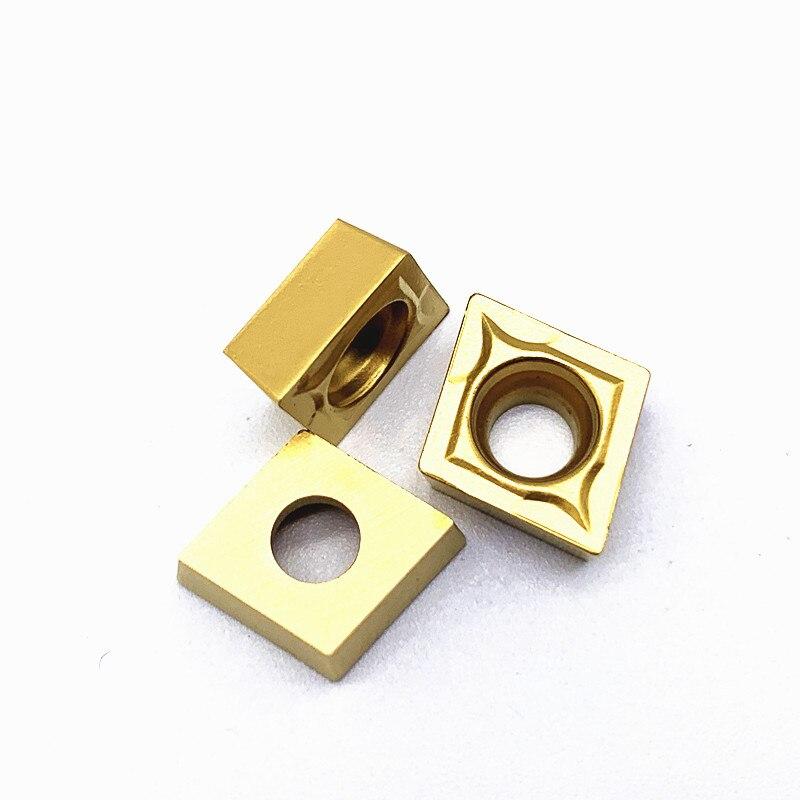Купить с кэшбэком 10PCS CCMT09T304 VP15TF/UE6020/ US735 Internal Turning Tools Carbide inserts Cutting Tool CNC Tools Lathe tools Lathe cutter