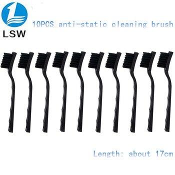 10pcs Anti Static Brush ESD Safe Synthenic Fiber Details Cleaning Brush Tool For Mobile Phone Tablet PCB BGA Repair Work