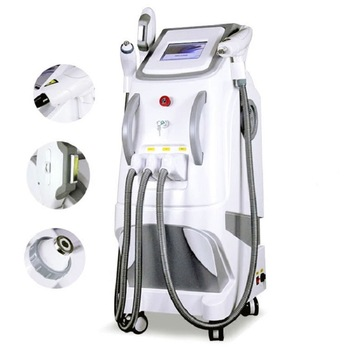 3 in 1 OPT IPL Elight SHR Hair Removal Tattoo Removal Machine Nd Yag Laser 2017 new the part of beauty equipment 532 1064 laser tips with nd yag laser handpiece nd yag laser handle