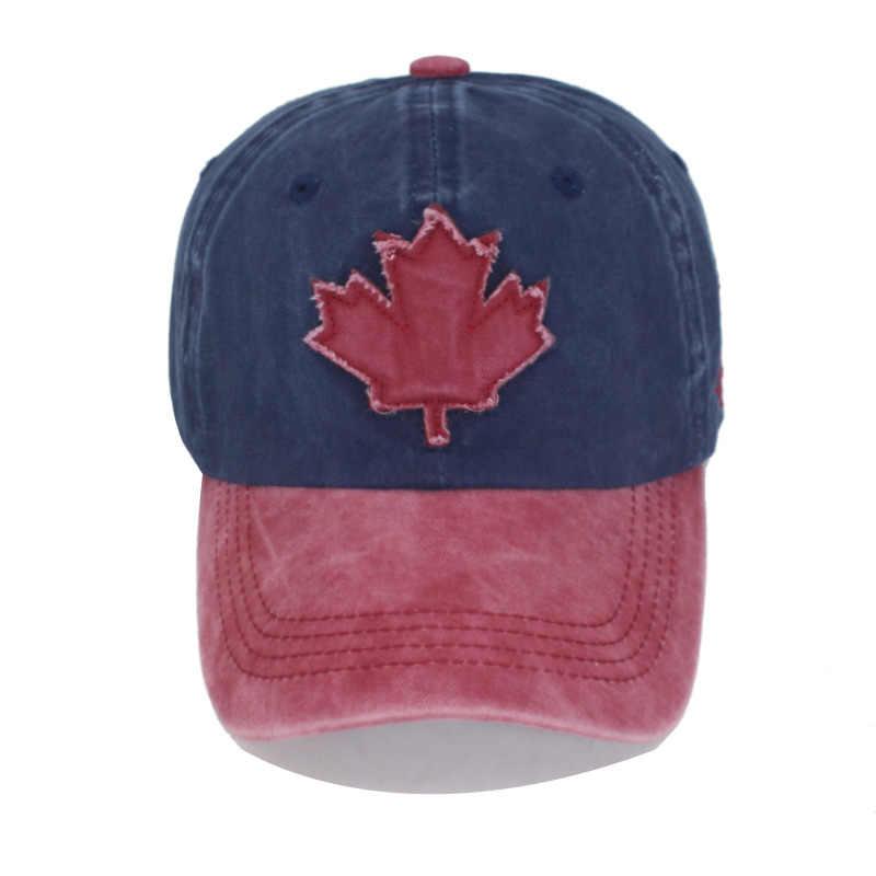 ผ้าฝ้ายแบรนด์ Gorras แคนาดาธงชายเบสบอลหมวกแคนาดาหมวก Snapback กระดูกปรับ Wonmen เบสบอลหมวก Snapback หมวก
