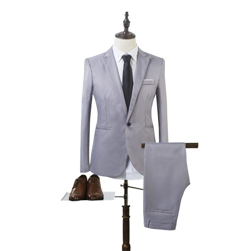 2019 Autumn And Winter Run England Solid Color Suit Set Business Casual Two-Piece Suit Pants + Suit