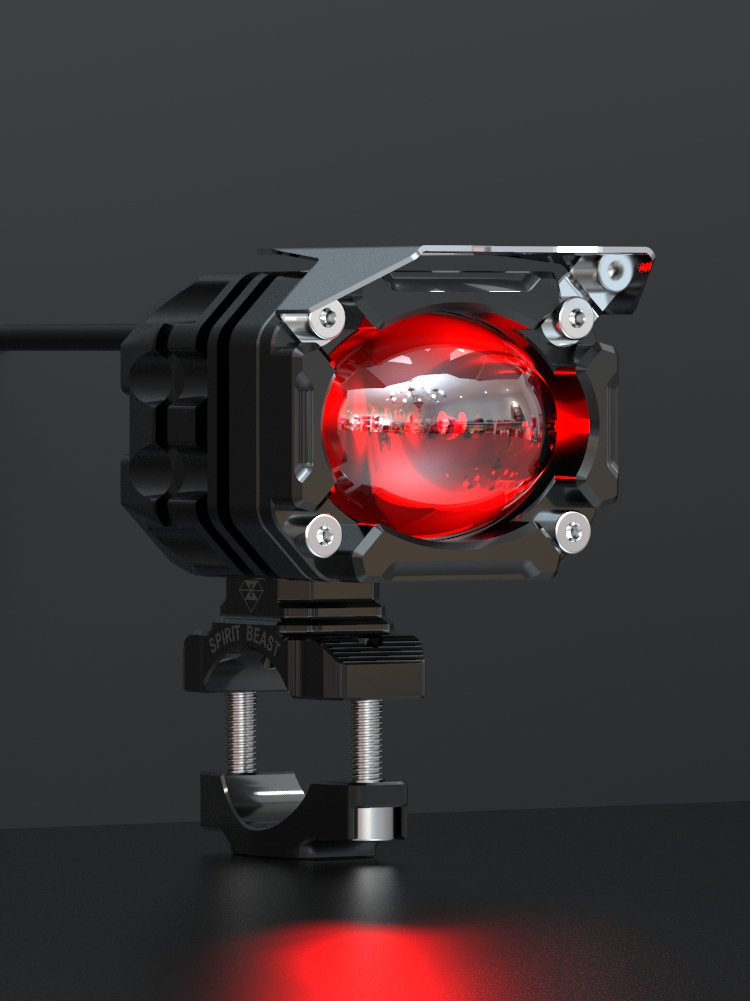 Spirit Beast Motorcycle L6 Spotlight Headlight Headlamp Auxiliary Light Super Bright Universal For Honda Yamaha Kawasaki Suzuki