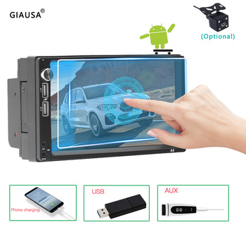 7 Inch Car Multimedia System Android Auto 2 Din Subwoofer GPS Wifi Bt Universal Dual USB Aux Autoradio Stereo Audio Mirror Link