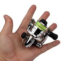 Mini XM100 Fishing Reel 2+1 Ball Bearings Stainless Steel Bait Casting Fishing Reels Fishing Tackle 4.3:1 Metal Wheel Small Reel