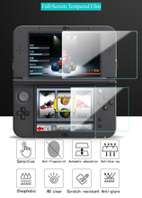 цена на Tempered Glass For Nintendo New 2DSLL New 3DSLL 3DSXL 3DSLL New 3DS UP + Down Screen Protector Protective Film Guard