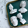 Creative Portrait Sculpture Fridge Magnets Art Beethoven Refrigerator Sticker 3D Resin Christmas Home Decoration 1pc 3