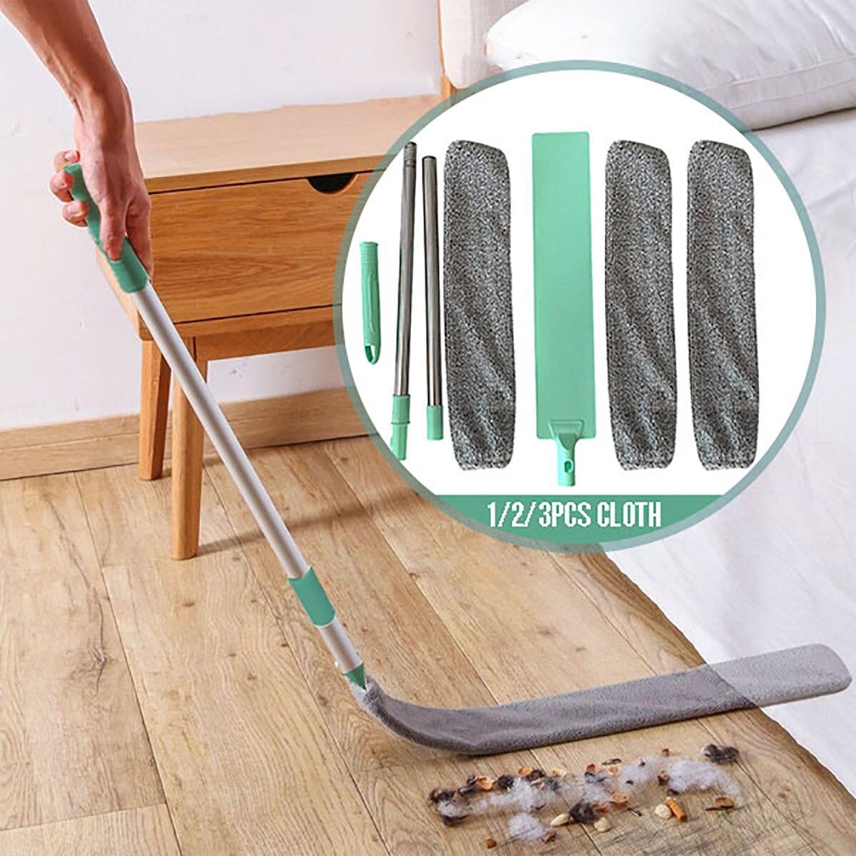 Прикроватная щетка для пыли, швабра с длинной ручкой, домашняя кровать, нижний зазор, чистый мех, для подметания, ПЫЛЬНАЯ Волшебная тряпка из микрофибры|Чистящие щетки|   | АлиЭкспресс