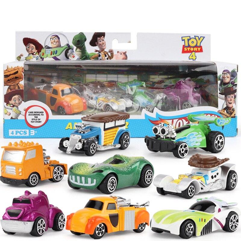 Juego de 8 unidades de figuras de Toy Story 4, figuras de acción de Woody de Buzz Lightyear para niños, regalo de cumpleaños coleccionable