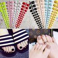 5 шт. короткие накладные ногти Impress для ног Цветные Красные накладные ногти искусственные ногти ноги белые ногти дизайн ногтей маникюр
