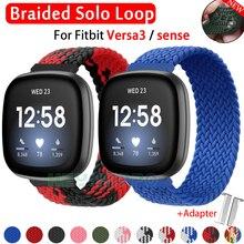 Gevlochten Nylon Solo Loop Band Voor Fitbit Versa 3/Gevoel Horlogeband Voor Fitbit Versa3 Horloge Accessoires