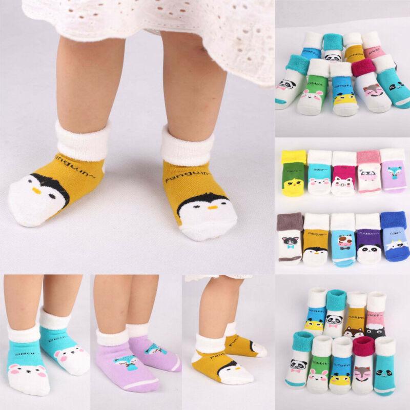 2020 NEW Hot 0-3Years Baby Girl Boy Anti-slip Socks Toddler Newborn Soft Slipper Shoes Boots  Random Match 5 Pairs
