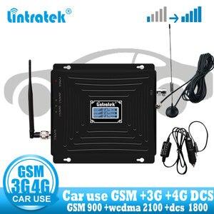 Image 1 - Lintratek araba kullanımı tekrarlayıcı Tri bant GSM 900 WCDMA 2100 LTE 1800 2G 3G 4G sinyal güçlendirici cep telefonu hücresel GSM amplifikatör araba