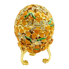 European Easter Eggs Ornament Jewelry Trinket Box Russian Home Decoration Accessories Gold Plated Enamel Metal Egg
