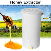 Honey Extractor Food Grade Plastic Two 2 Frame 40x70cm Tangential Manual Crank Spinner Beekeeping Easy to Clean Easy Pour Gate