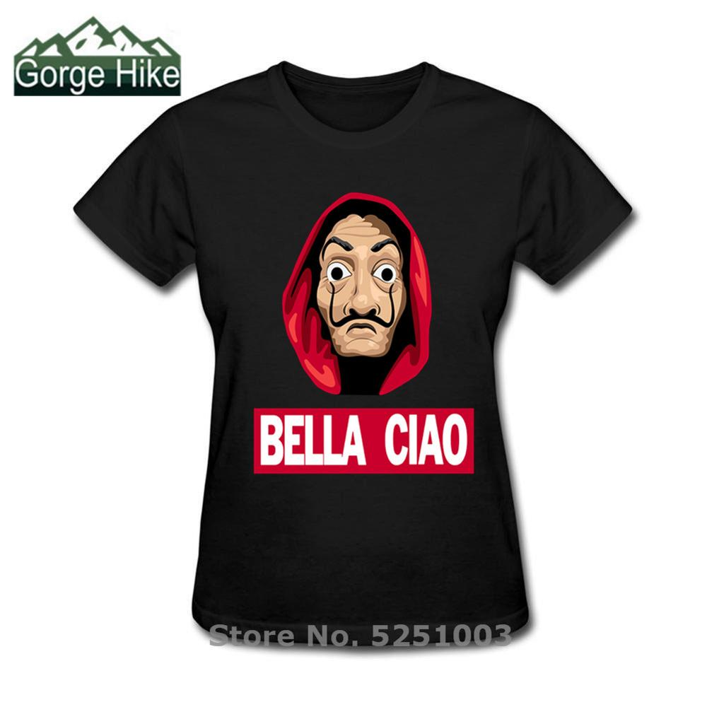 Women Nice Hello Funny Bella Ciao T Shirts Money Heist Tees TV Series Short Sleeve Tshirts Wome House Of Paper Fashion T-Shirts