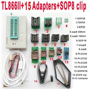 Image 2 - TL866II בתוספת Minipro מתכנת 28 מתאם שקע SOP8 קליפ TL866 nand פלאש 24 93 25 mcu ה bios EPROM AVR IC שבב מתכנת