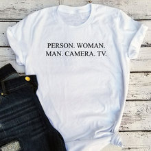 Женская и мужская камера ТВ Футболка женская винтажная одежда