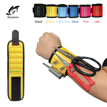 Magnetic Wristband Drill-Holder Repair-Tool-Belt Polyester Portable Bag Screws Geoeon