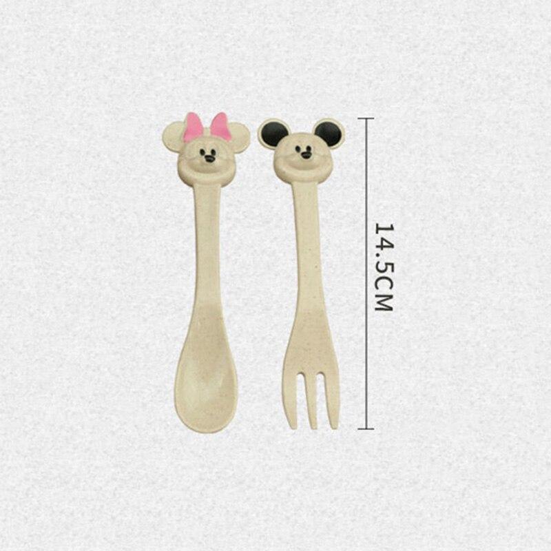 3Pcs-Set-Baby-Food-Feeding-Tableware-Set-Wheat-Straw-Eco-Friendly-Bowl-Cartoon-Cute-Spoon-Fork