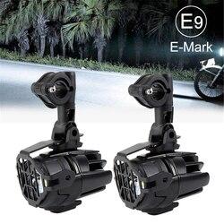 دراجة نارية مصابيح الضباب LED مساعدة الضباب ضوء الجمعية مصباح قيادة 40 واط لسيارات BMW R1200GS ADV F800GS F700GS F650GS K1600