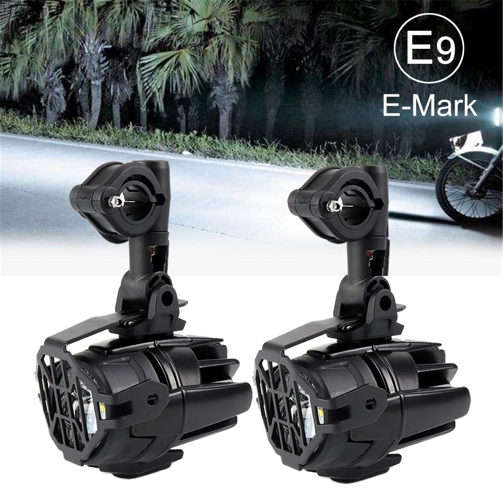 Feux de brouillard de moto LED antibrouillard auxiliaire assemblé lampe de conduite 40W pour BMW R1200GS ADV F800GS F700GS F650GS K1600