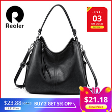 REALER Handbags Messenger-Bag Shoulder-Crossbody-Bag Large Totes Artificial-Leather Female