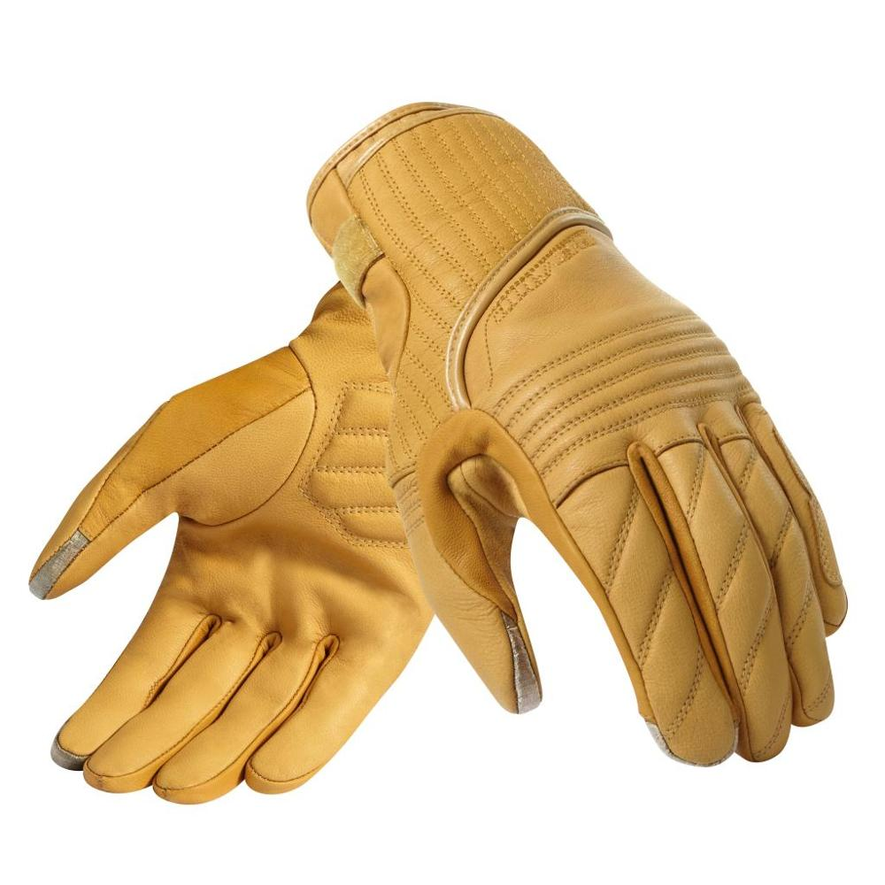 New 2019 Retro Motorcycle 100% Genuine Leather Moto GP Racing Motorbike glove size M-XXL