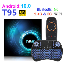 Android 10 T95 Smart Tv Box Youtube HD 6K 2.4G & 5G Wifi 4GB 32GB 64GB Google Assistant vocal Bluetooth TV récepteur lecteur multimédia