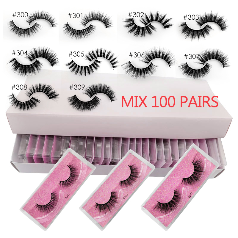 YSDO Lashes 20/30/40/50/100 PCS Mink Eyelashes Wholesale Natural False Eyelashes Extensions Makeup 3D Mink Lashes In Bulk Cilios