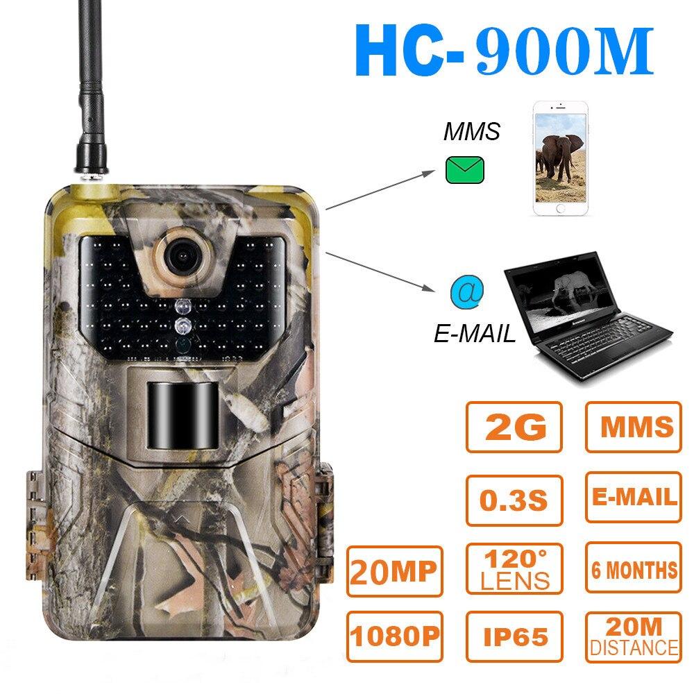 20MP 1080P 2G SMS MMS SMTP Wildlife Trail Kamera Foto Fallen Nachtsicht E mail Cellular Jagd outdoor Kamera überwachung