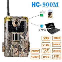 20MP 1080P 2G SMS MMS SMTP Wildlife Trail cámara trampa para fotos visión nocturna Correo electrónico caza celular cámara de vigilancia al aire libre