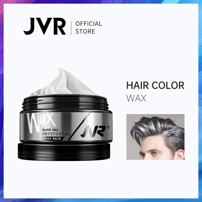JVR 80g Temporary Hair Color Wax Men Women One-time DIY Hair Dye Molding Paste Dye Cream Hair Mud For Hair Coloring Styling Grey 1